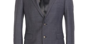 Alexander McQueen Spring _ Summer 2010 Blue Wool Suit 01