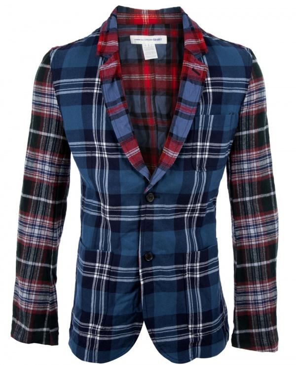 Comme Des Garçons Shirt Patchwork Plaid Sportcoat 1 Comme Des Garçons Shirt Patchwork Plaid Sportcoat