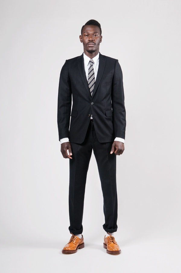 Dries Van Noten Wool Kilt Suit in Navy 1 Dries Van Noten Wool Kilt Suit in Navy