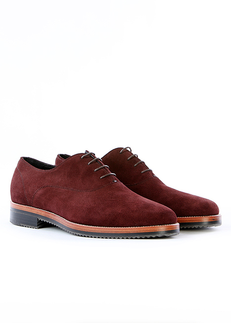 Heutchy Clap Oxford in Oxblood Suede 1 Heutchy Clap Oxford in Oxblood Suede