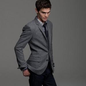J. Crew Solid Grey Tweed Ludlow Sportcoat | Suitored