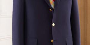 J. Press Navy Sack Blazer in Wool