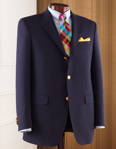 J. Press Navy Sack Blazer in Wool J. Press Navy Sack Blazer in Wool