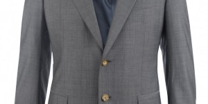 Lanvin Super 130 Two Button Grey Suit 1