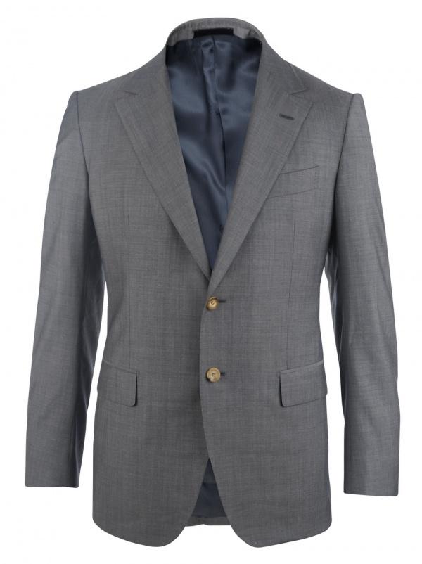 Lanvin Super 130 Two Button Grey Suit 1 Lanvin Super 130 Two Button Grey Suit