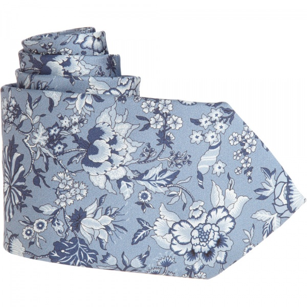 Liberty of London Blue Wallflower Tie Liberty of London Blue Wallflower Tie