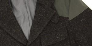 Nigel Cabourn Black Harris Tweed Mallory Jacket 1