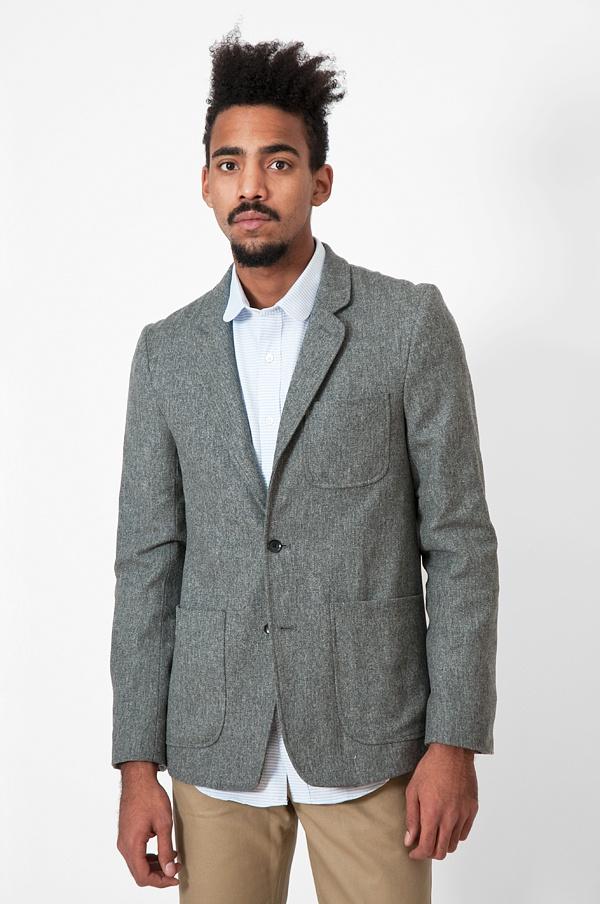 Patrik Ervell Unstructured Wool Flannel Sportcoat 1 Patrik Ervell Unstructured Wool Flannel Sportcoat
