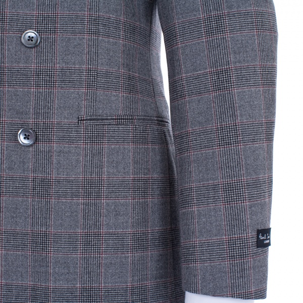 Top Paul Smith London Double Breasted Check Byard   Suitored CA64
