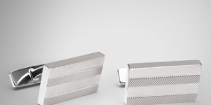 Hugo Boss Polished Herringbone Cufflinks