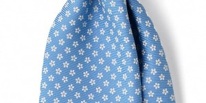 Royal Twill Silk Foulard Necktie by Drakes London 1