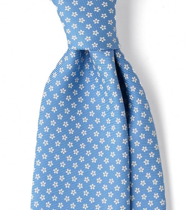 Royal Twill Silk Foulard Necktie by Drakes London 1 Royal Twill Silk Foulard Necktie by Drakes London