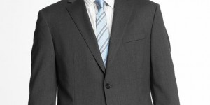 Two Button Charcoal Suit by Banana Republic 01