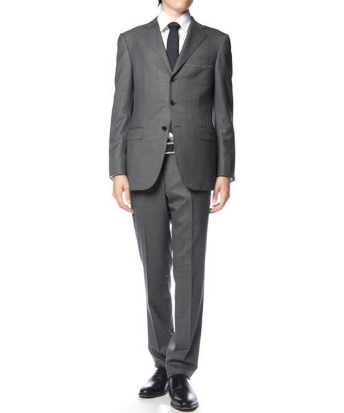 United Arrows Single Breasted Check Wool Suit 1 United Arrows Single Breasted Check Wool Suit