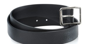 Alexander McQueen Black Leather Belt 1