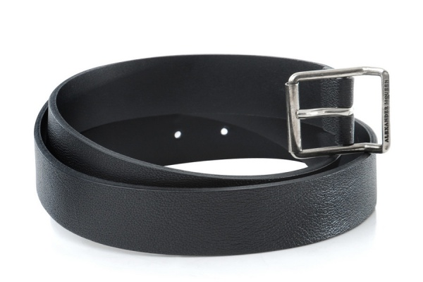 Alexander McQueen Black Leather Belt 1 Alexander McQueen Black Leather Belt