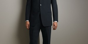 Armani Collezioni Dark Navy Executive Model Suit 1