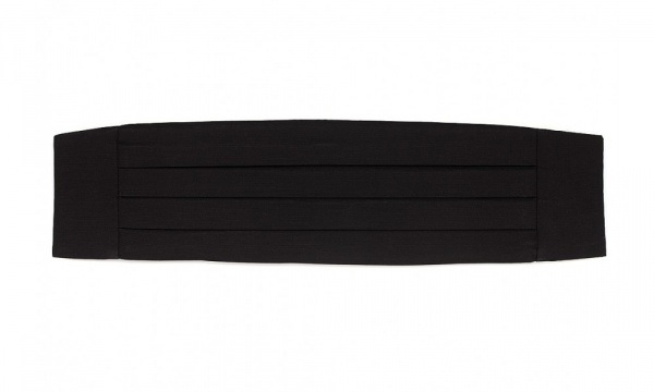 Black Grosgrain Cummerbund by Drakes London Black Grosgrain Cummerbund by Drakes London
