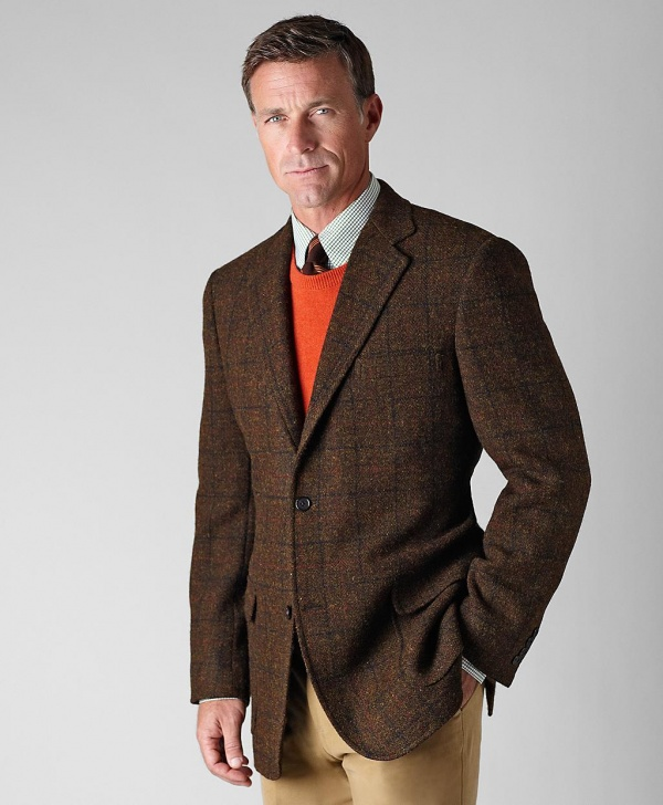 Brooks Brothers Harris Tweed Green Deco Sportcoat 1 Brooks Brothers Harris Tweed Green Deco Sportcoat