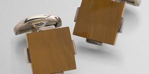 Brooks Brothers Tiger's Eye Square Cufflinks