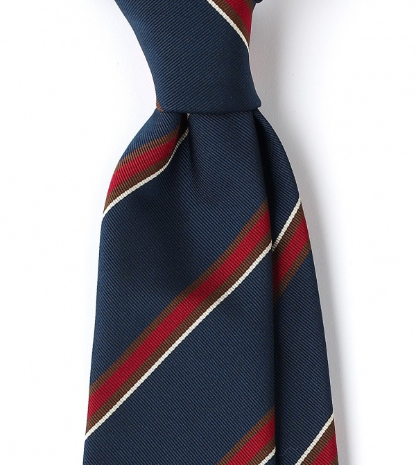 Drakes London House Stripe Rep Tie 1 Drakes London House Stripe Rep Tie