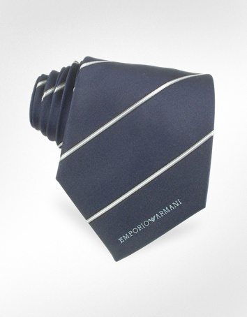 Emporio Armani Striped Jacquard Silk Narrow Tie Emporio Armani Striped Jacquard Silk Narrow Tie