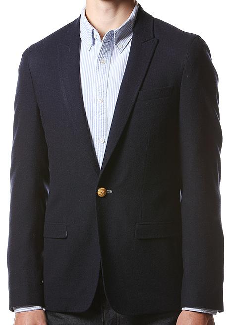 Gant Rugger Flannel Navy Blazer 1 Gant Rugger Flannel Navy Blazer
