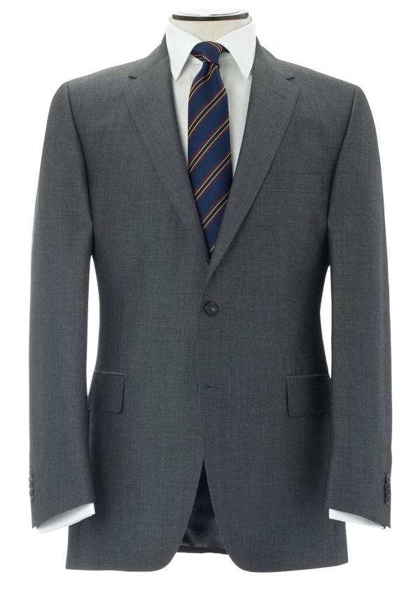 Gieves and Hawkes Charcoal Mohair Single Breasted Suit 1 Gieves and Hawkes Charcoal Mohair Single Breasted Suit