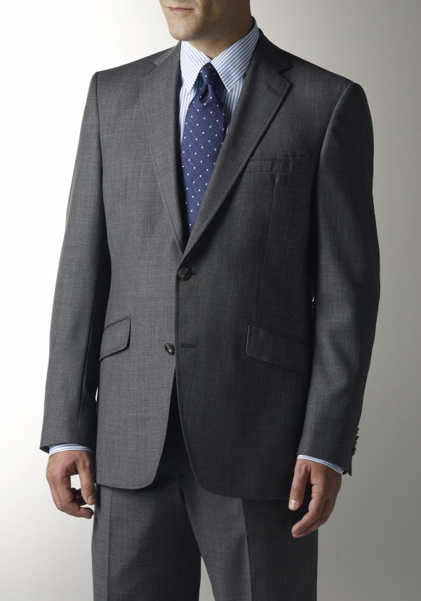 Grey Sharkskin Suit by Hart Schaffner Marx 1 Grey Sharkskin Suit by Hart Schaffner Marx
