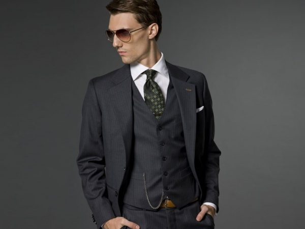 Indochino Grey Melange 3 Piece Suit Indochino Grey Melange 3 Piece Suit