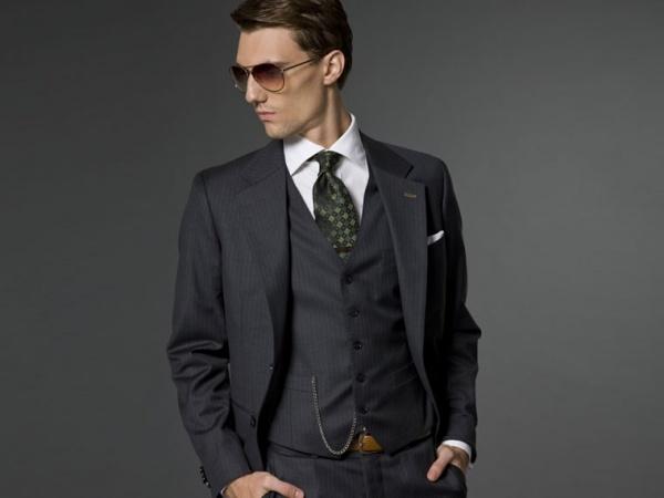 Indochino Grey Melange 3 Piece Suit Indochino Grey Melange 3 Piece Suit