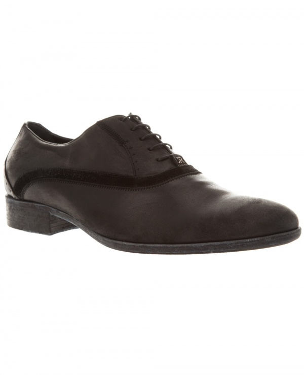 John Richmond Black Suede Trim Oxford 1 John Richmond Black Suede Trim Oxford