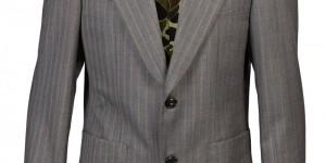Junya Watanabe Striped Wool Camo Lined Blazer 1