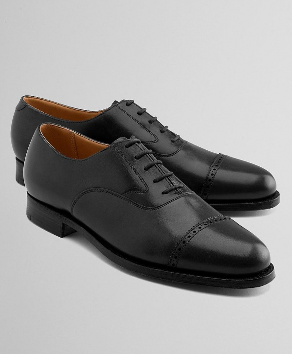 Peal Co Perforated Cap Toe Oxfords 01 Peal & Co Perforated Cap Toe Oxfords