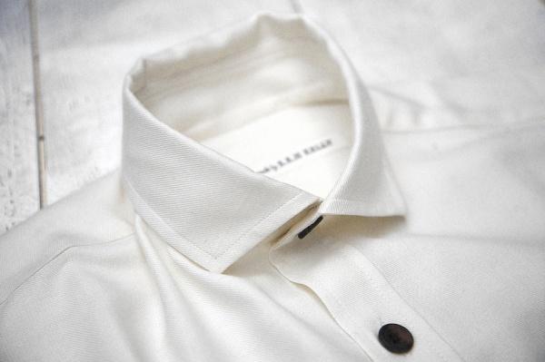 S.E.H. Kelly Cream Semi Cutaway Shirt 1 S.E.H. Kelly Cream Semi Cutaway Shirt