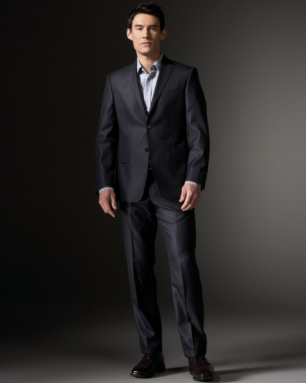 Versace Collection Striped City Fit Suit 1 Versace Collection Striped City Fit Suit