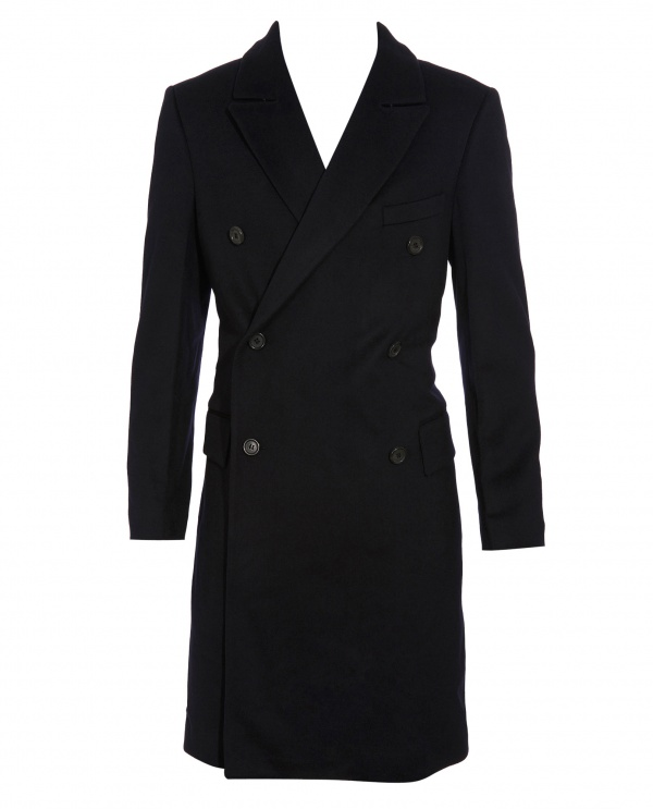 Yves Saint Laurent Double Breasted Wool Coat 1 Yves Saint Laurent Double Breasted Wool Coat