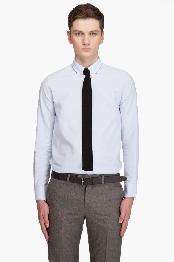 A.P.C. Slim Ribbed Tie A.P.C. Slim Ribbed Tie