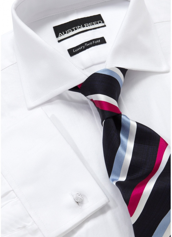 Austin Reed City White Herringbone Shirt Austin Reed City White Herringbone Shirt