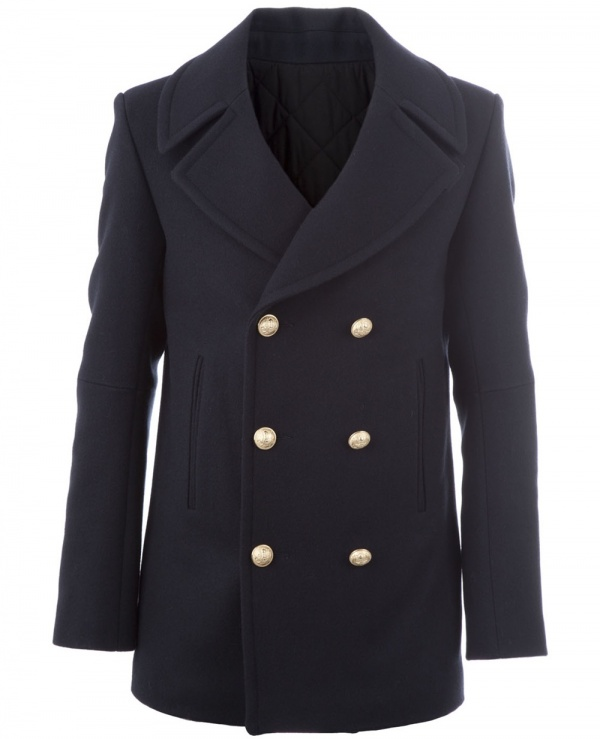 Balmain Double Breasted Peacoat 1 Balmain Double Breasted Peacoat