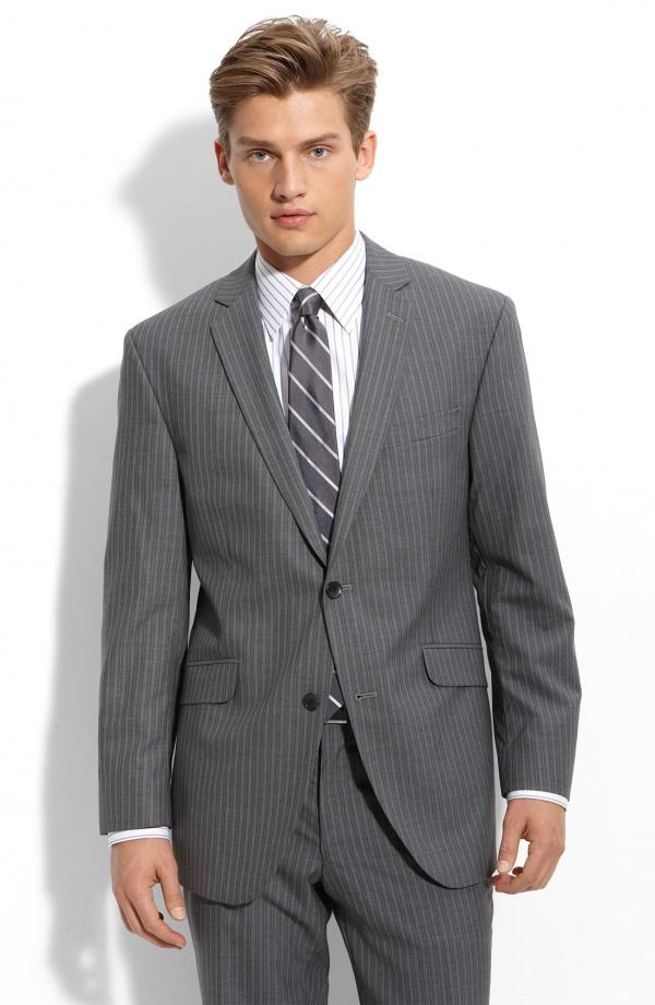 Ben Sherman Charcoal Pinstripe Suit 1 Ben Sherman Charcoal Pinstripe Suit