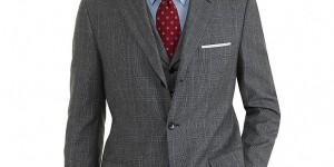 Brooks Brothers Madison Three-Piece Plaid 1818 Suit 01