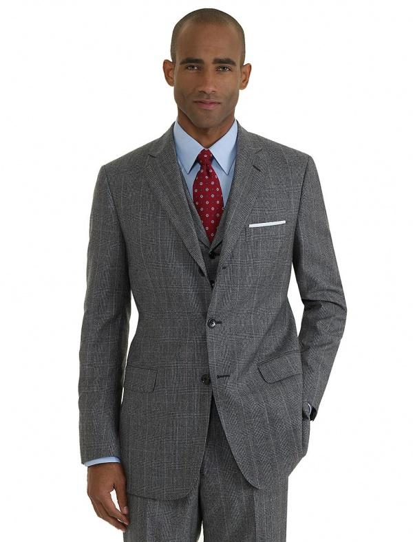 Brooks Brothers Madison Three Piece Plaid 1818 Suit 01 Brooks Brothers Madison Three Piece Plaid 1818 Suit