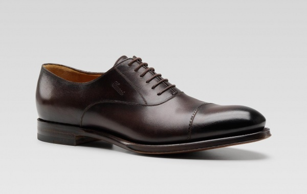 Brown Gucci Cap Toe Oxford 01 Brown Gucci Cap Toe Oxford