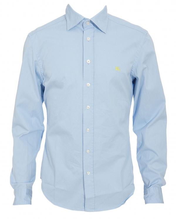 Burberry Brit Blue Washed Cotton Shirt 1 Burberry Brit Blue Washed Cotton Shirt