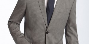 Burberry London Grey Stripe Virgin Wool Suit 1