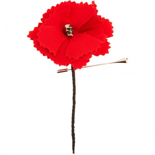 Flower Skull Tie Pin by Alexander McQueen Flower Skull Tie Pin by Alexander McQueen