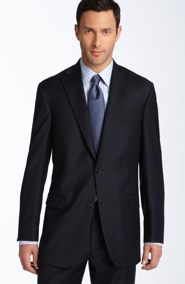 Hart Schaffner Marx Navy Wool Suit 1 Hart Schaffner Marx Navy Wool Suit