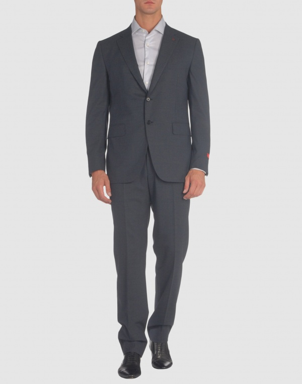Isaia Men Two Button Gray Suit 1 Isaia Men Two Button Gray Suit