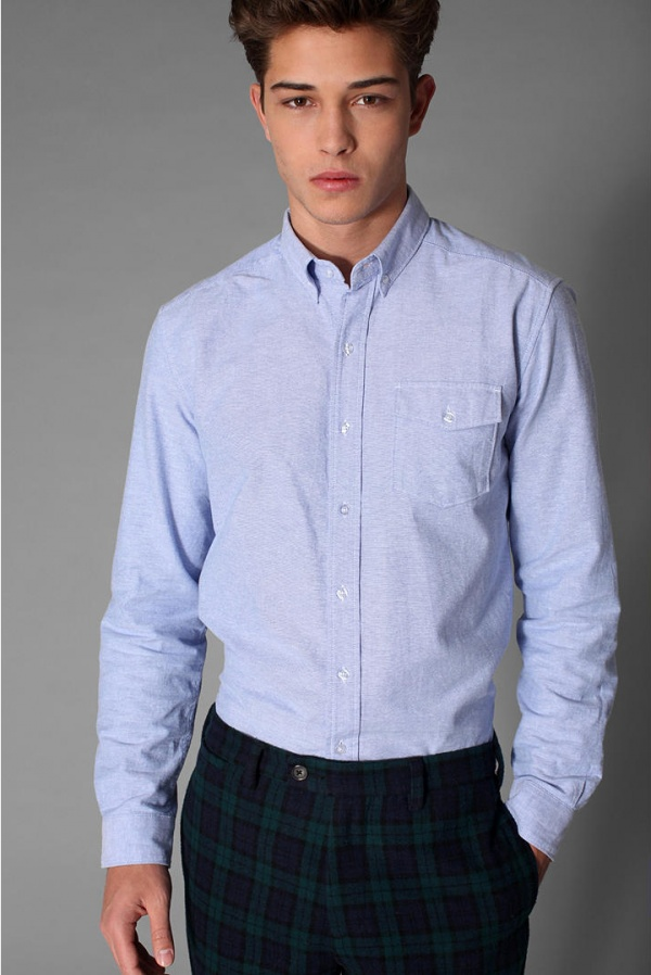 J. Press for Urban Outfitters Blue Button Down Shirt | Suitored